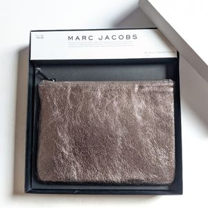Marc Jacobs Metallic Leather Zippered Pouch